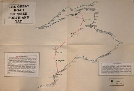 Map of Great Road between the Forth and the Tay