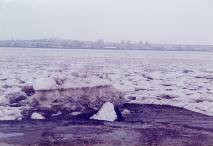 Ice Floes on River 1982 | John Don