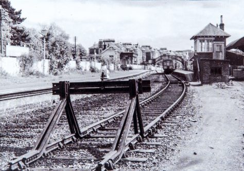 Buffers at East Newport Station