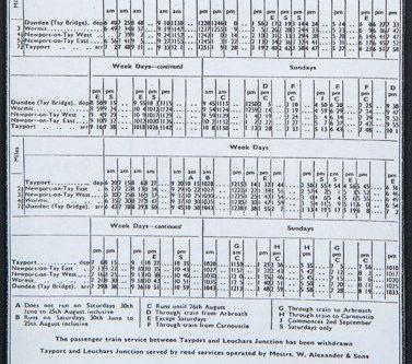 Newport Railway Timetable 1956