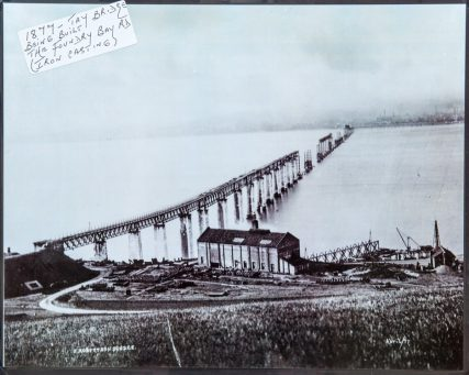 First Tay Bridge Under Construction