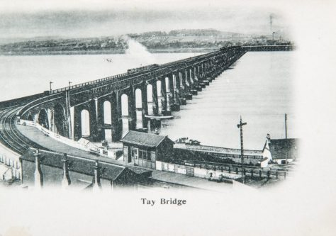 Postcard: Steam Train on Tay Rail Bridge