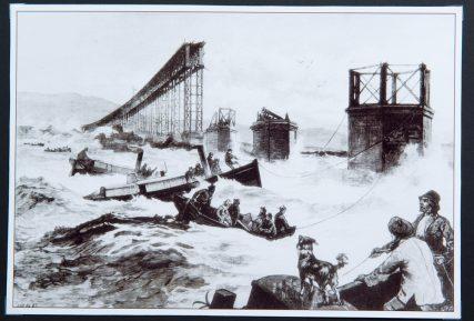 Artist's Impression of Tay Bridge Disaster | Illustrated London News