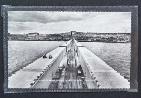 Postcard: Tay Road Bridge During Construction 1964
