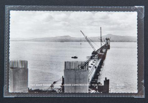 Postcard: Tay Road Bridge Construction 1964