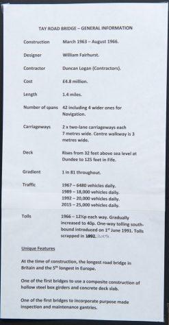 Tay Road Bridge: General Information