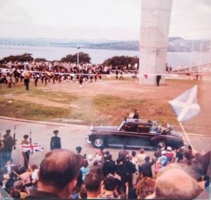 Arrival of Queen Mother's Car