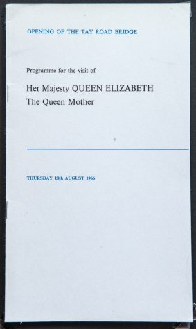Programme for Visit of Queen Mother
