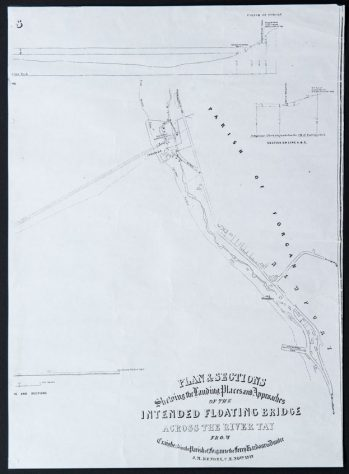 Plan for Floating Bridge 1842