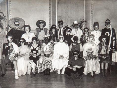 Masked Tennis Club Ball 1940s