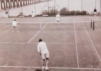 Wormit Tennis Club: Game in Progress