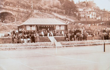 Spectators at Wormit Tennis Club 1950s