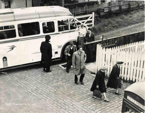 Rail Passengers Transfer to Bus for Tayport