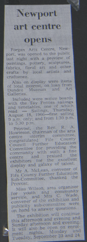 Forgan Arts Centre: First Exhibition 1974