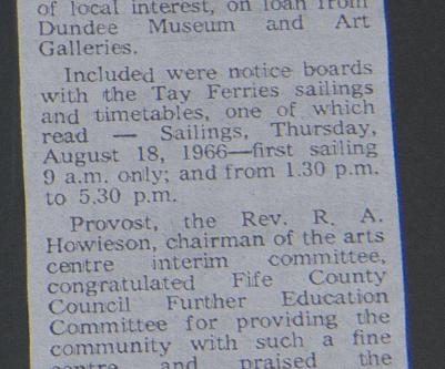 Forgan Arts Centre: First Exhibition 1974