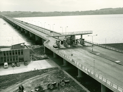 Road Bridge Toll Booths and Viewing Platform