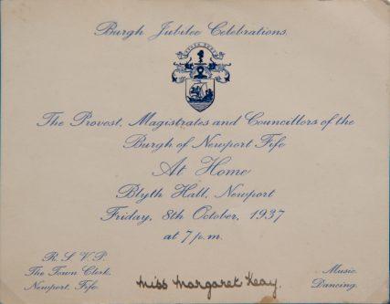 Burgh Jubilee Celebrations 1937