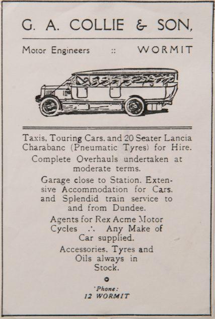 George Collie Advertisement