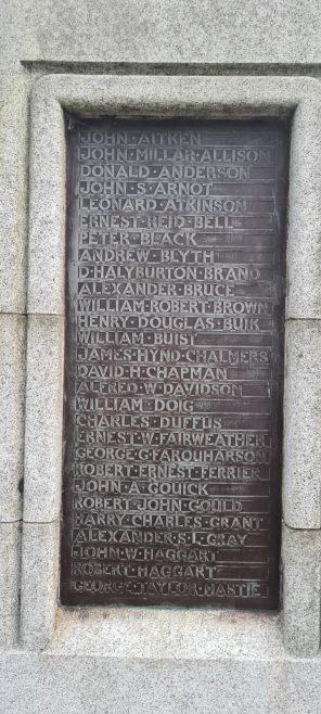 War Memorial Panel