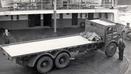 Turntable on Car Deck