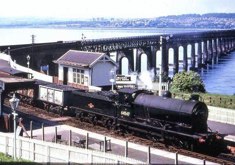 Steam Engine at Wormit Station