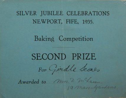 1935 Silver Jubilee Baking Contest