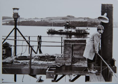 A Fifie Passing the New Tay Road Bridge Under Construction, 1965