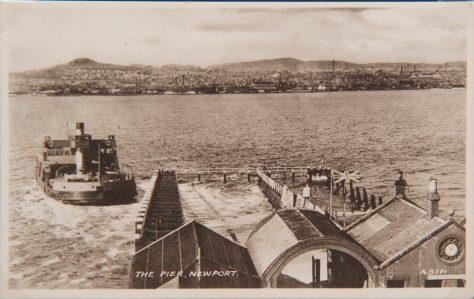 The Abercraig Approaching the Pier at Newport