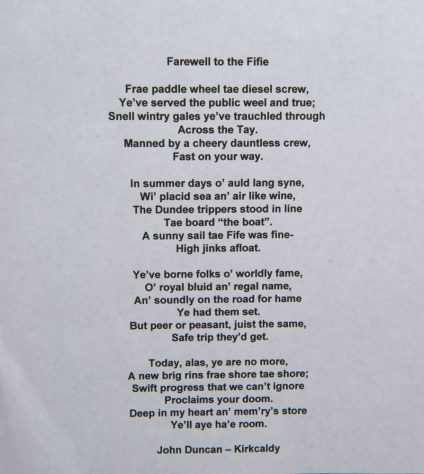 Farewell to the Fifie - a Poem by John Duncan