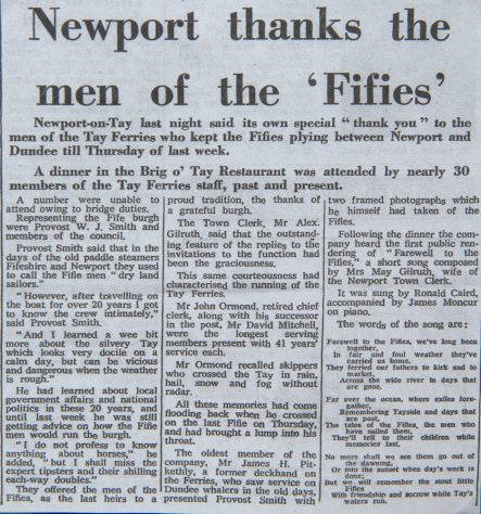 """Newspaper Article - """"Newport Thanks the Men of the Fifies"""", 1966"""