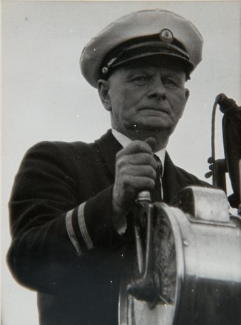 The Captain of the B.L. Nairn on One of the Last Ferry Crossings, 1966