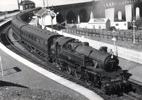 Steam Train at Wormit 1958