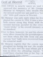 Wormit Bay Golf Club Newscutting