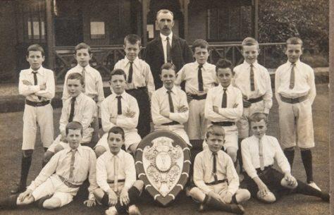 Newport Boys Football Team at Windmill Park, c.1910