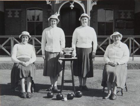 Newport Bowling Club Lady Champions, c.1960
