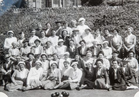 A Large Group of Lady Bowlers at Newport, c.1960