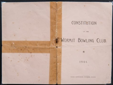 Wormit Bowling Club Constitution, 1901