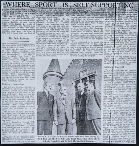 Newport's Fine Sporting Tradition: News Article 1962
