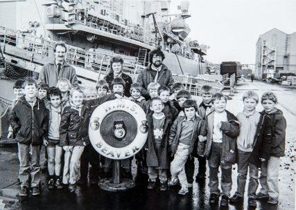 Newport Beavers Visit HMS Beaver at Rosyth 1985 | Adam Olejnik
