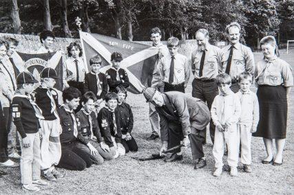 Cutting First Sod for New Scout Hut 1986 | Adam Olejnik
