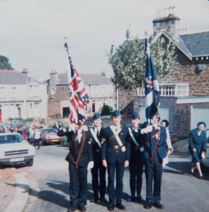 Wormit BB Colour Party Remembrance Sunday 1983