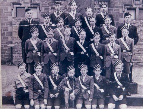 Newport Boys' Brigade Outside the Blyth Hall, 1940s