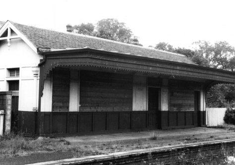 Dilapidated East Newport Station