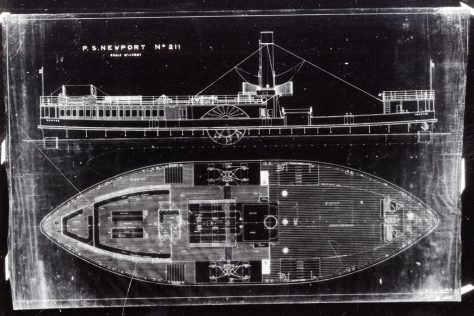 Plans for the Ferry PS Newport