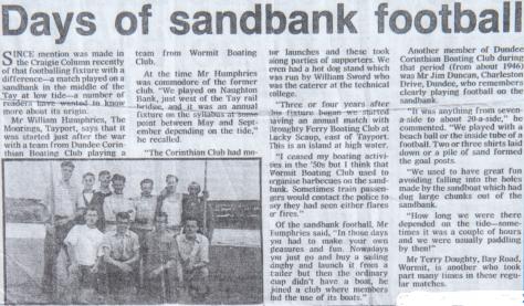 Football on the Sandbank