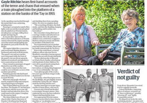 Newspaper Article Recalling Wormit Station Crash