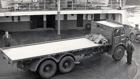 Turntable on Ferry Car Deck