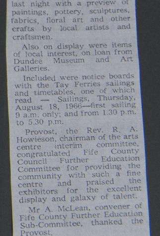 First Exhibition at Forgan 1974