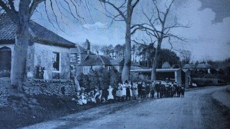 Forgan School and Pupils 1900s