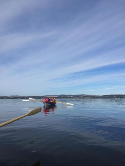 Wormit Boating Club. Out on the skiffs on a calm day. | Alex John